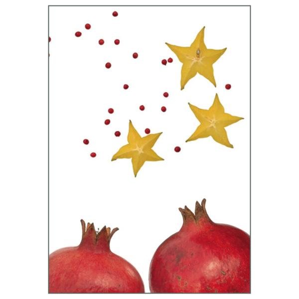 """Klappkarte """"Granatapfel/Sternfrucht"""""""