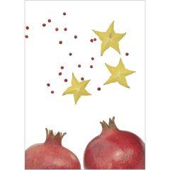 """Klappkarte """"Granatapfel/Sternfrucht"""" Vorderseite"""