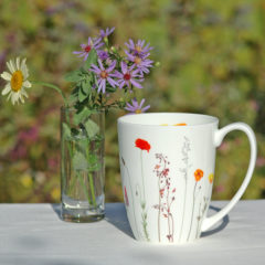 "Becher ""Sommerwiese"", Fine Bone China, 250 ml"