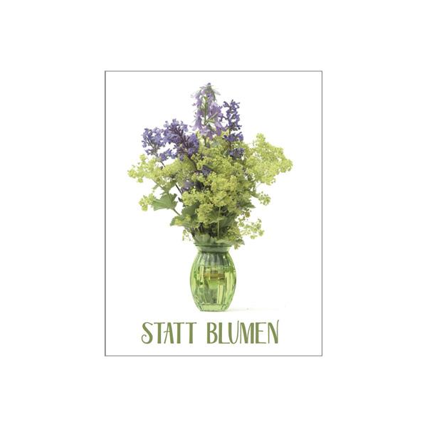 "Minikarte ""Statt Blumen"""