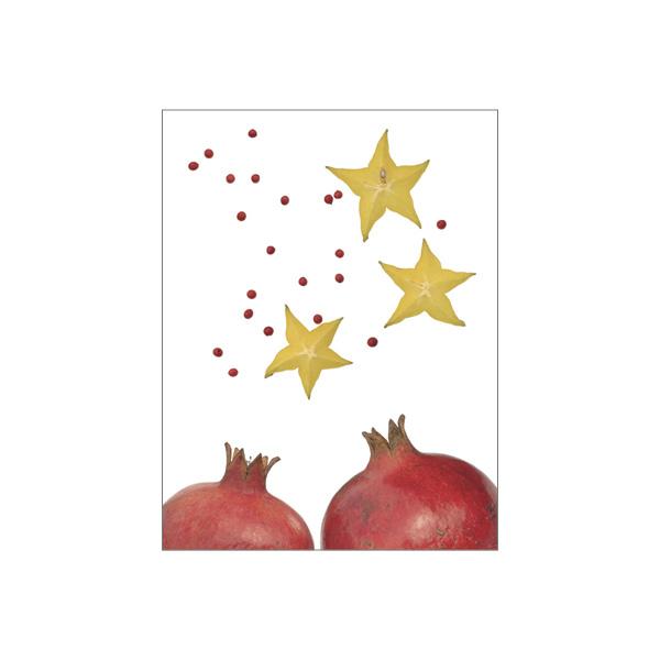 """Minikarte """"Granatapfel/Sternfrucht"""""""